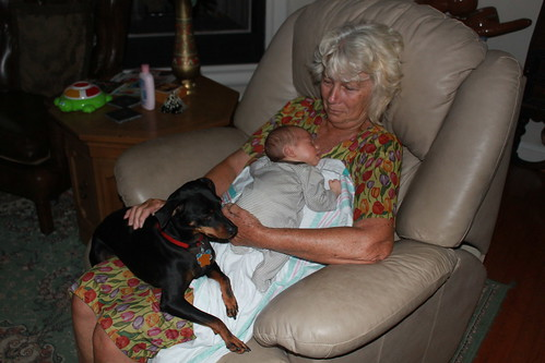 Sagan - August 7th - With Grandma and Willie