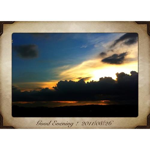 今日も一日、お疲れ様でした。ʅ(‾◡◝)ʃ  #sunset #iphotography #instagram
