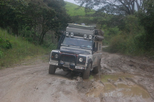 The expedition on the road. Picture from the web page goingoverland.com
