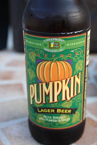 pumpkin beer Lakefront Brewery