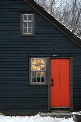 orange entry door