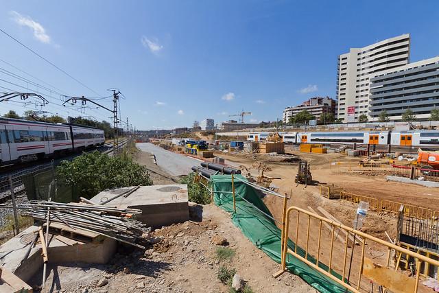 Frontera UTEs Sant Andreu donde estaba la antigua subestación eléctrica- 15-09-11