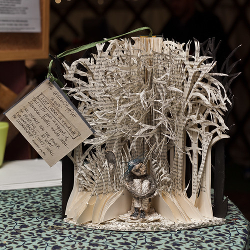 Mysterious paper sculptures at the Book Festival