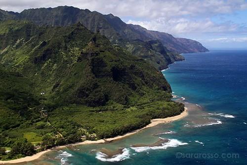 Ha'Ena near Hanalei Bay, Kauai, Hawaii