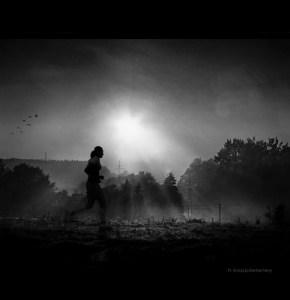 Jogging in Morning Light