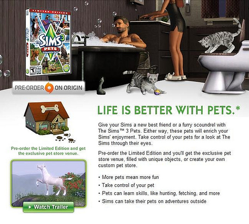 Sims 3 Pets Newsletter