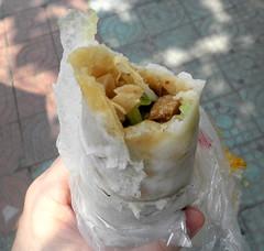 Chinese roll kebab