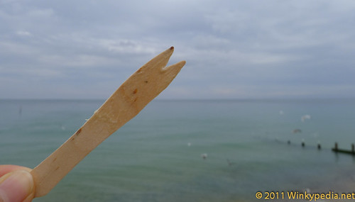 Peculiar 'fork' used to eat fish and chips in Cromer