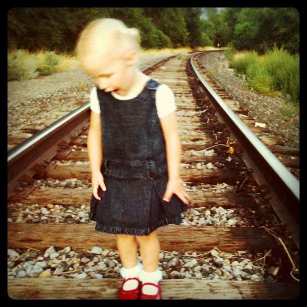 Playing on the #traintracks