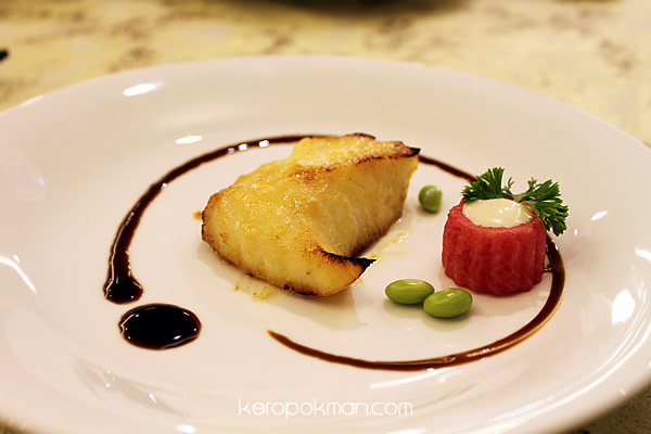 Cod Fish Baked with Miso & Sauteed Edamame