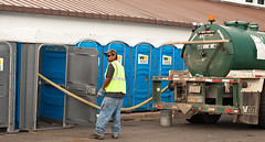 Porta Potty Clean Up
