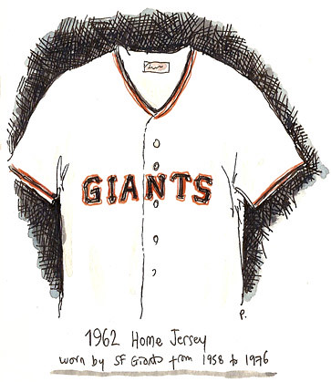 giants jersey 1962