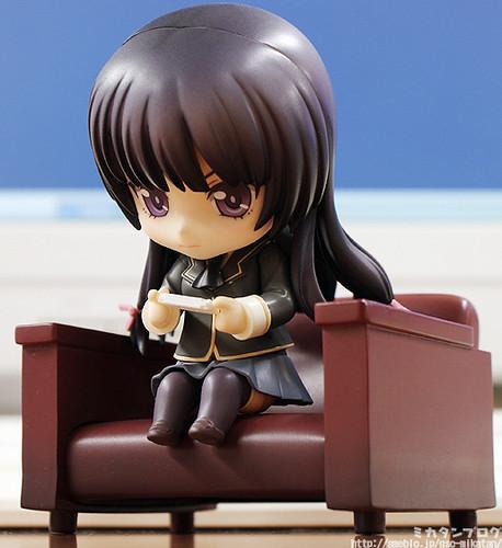 Yozora is playing her PSP