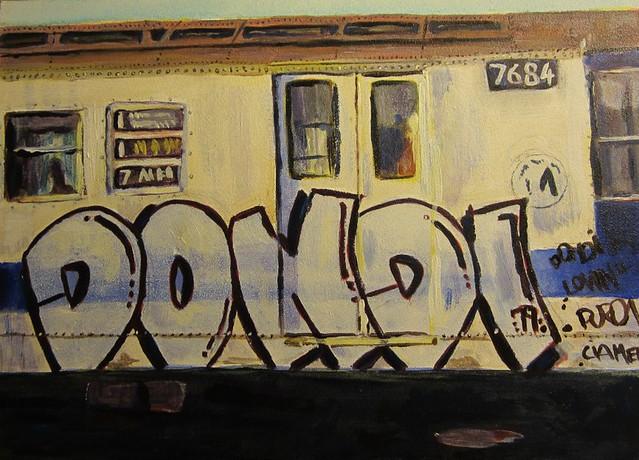 DONDI graffiti acrylic painting