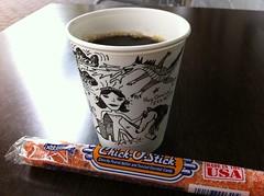 Coffee and Chick-O-Stick