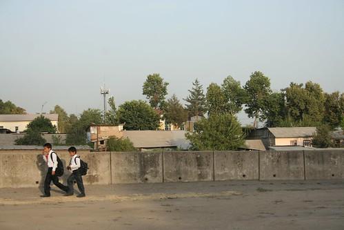 Walking home from school