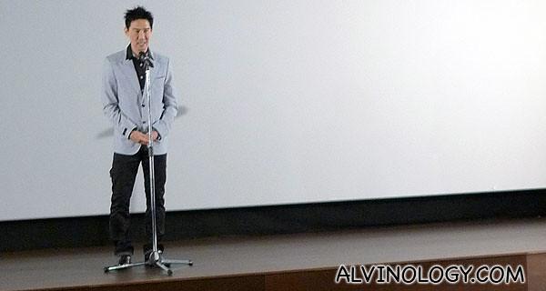 Edmund Chen greeting everyone