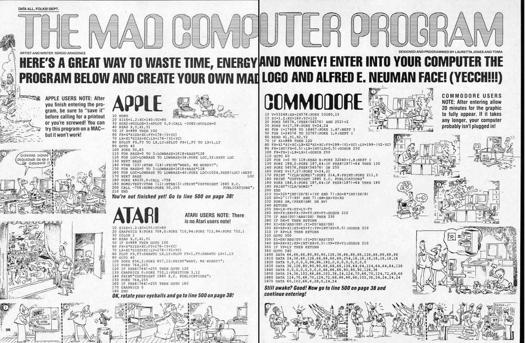 Mad Computer Program 1