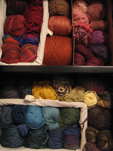 organized stash by color