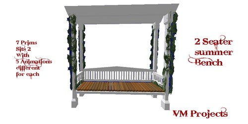 VM Projects - 2 Seater Summer Bench