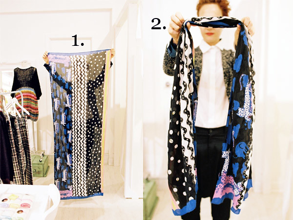 1 scarf. fold twist