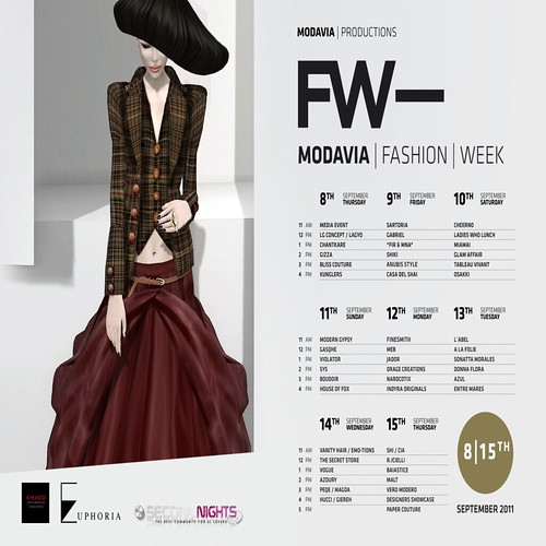 Modavia Fashion Week 2011 - Schedule of events