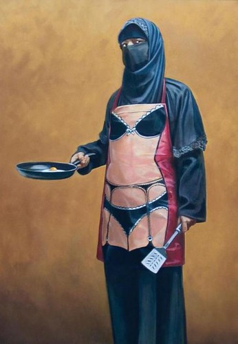 Banksy's Hijab wearing woman by doodle_juice