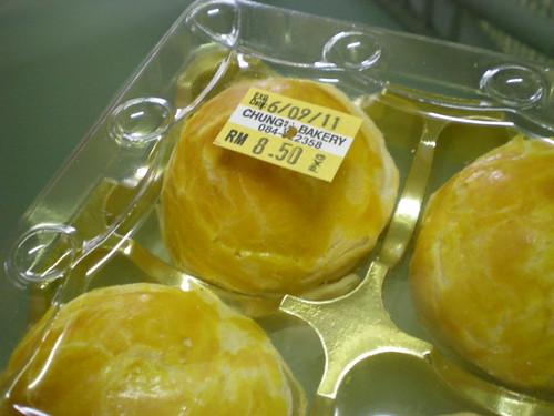 Chung's pandan salted egg mooncake 1