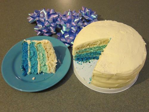 Blue Gradient Cake