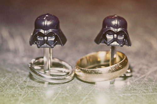 Lynn's cufflinks and our rings