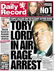 Tory Lord in Air Rage Arrest Daily Record Dec 21 2006