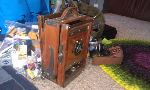 Watson 5x7 camera, folded up