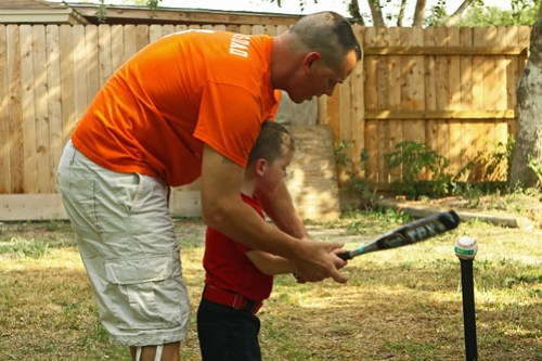 Tball practice with Daddy