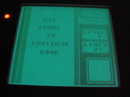 Game Boy Light - light screen