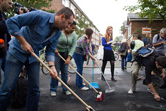 London Riots Cleanup Hackney (Mare Street and ...
