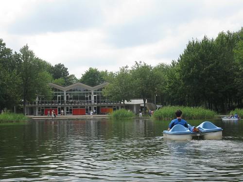 Peddle boating on Beaver Lake