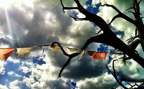Prayer Flags, Pool Wall, Ouray Colorado