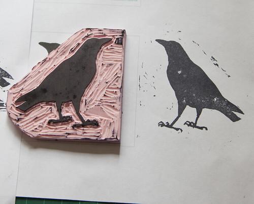 Crow Stamp Close Up