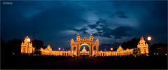 Mysore palace, lit up...