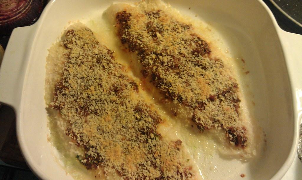 Tangy garlic cod