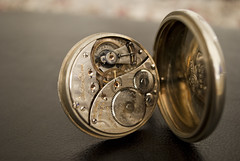 Elgin Father Time Pocket Watch Movement