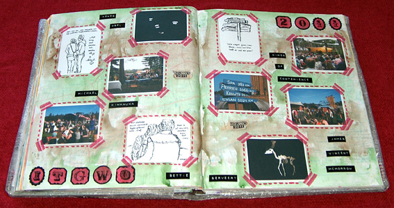 Journal spread from altered atlas