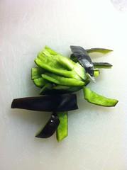 black bell pepper from the garden