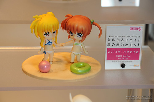 Nendoroid Petit Nanoha and Fate Beach version