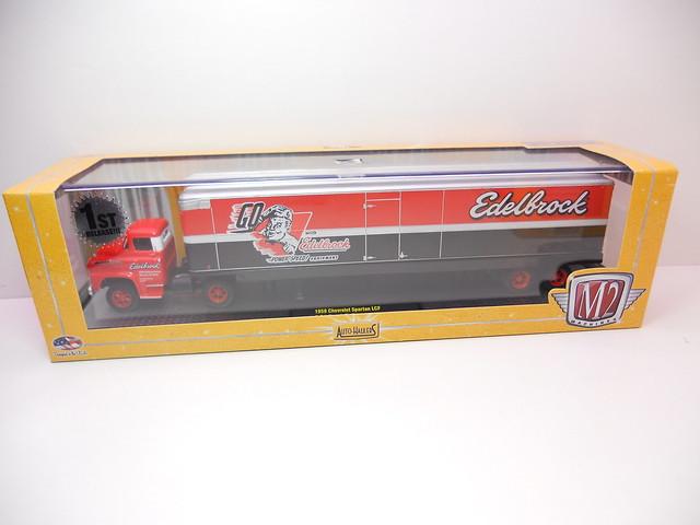 m2 auto trucks 1958 chevrolet spartan lcf & edelbrock trailer (2)