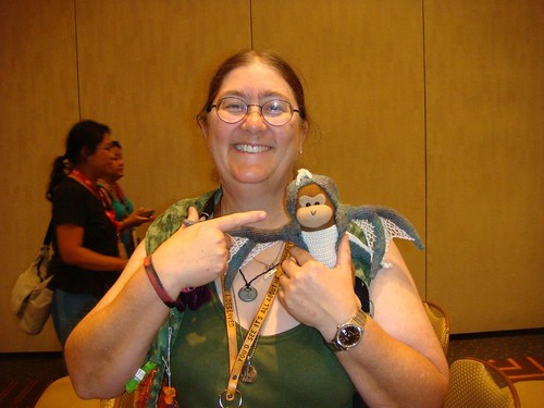 2: Me With Timmy the ThinkGeek Monkey