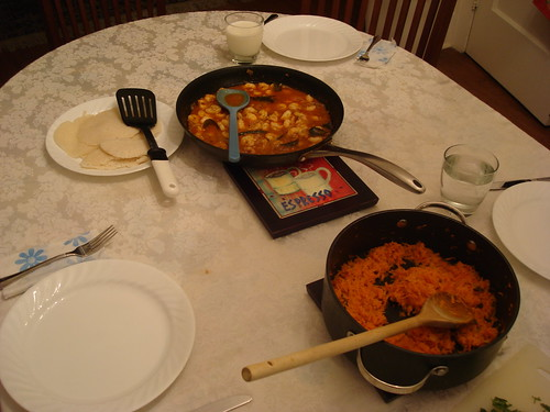 Shrimp Curry, Carrots with Tropical Flavors, and Appams