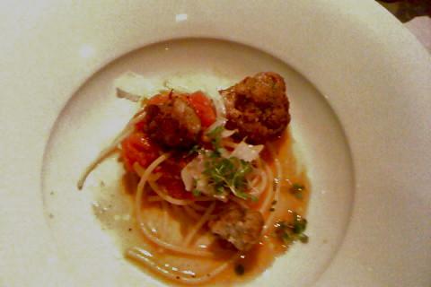Veal Sweetbread Spaghetti - Kitsilano Daily