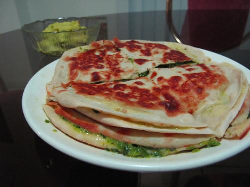 quesadilla+guacamole