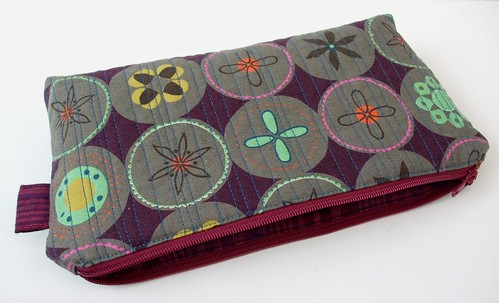 Ruby Star Spring Quilted Pouch by Very Berry Handmade